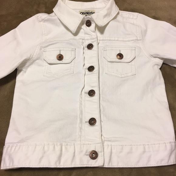 OshKosh B'gosh Other - OshKosh B'gosh White Denim Jacket Girls (like new)